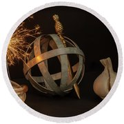 Disparate Objects 2 A Still Life Round Beach Towel