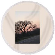 Displaced With Grace Round Beach Towel