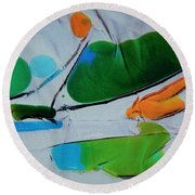 Dissected Flower Round Beach Towel