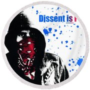 Dissent Is Patriotic Round Beach Towel