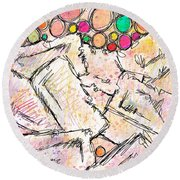 Dissociative Round Beach Towel