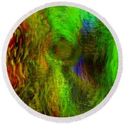 Dissolution Round Beach Towel by Linda Sannuti