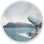 Distant Horizons Round Beach Towel