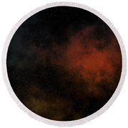 Distant Nebula Round Beach Towel by Michal Boubin