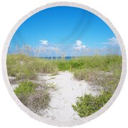 Distant Sea Round Beach Towel