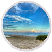 Distant Thunderhead Round Beach Towel