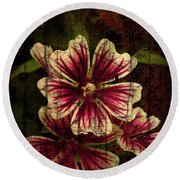 Distinctive Blossoms Round Beach Towel
