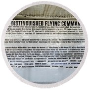 Distinguished Flying Command  Round Beach Towel