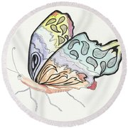 Diva Round Beach Towel by Kathryn Riley Parker