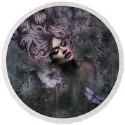 Divine Beauty Round Beach Towel
