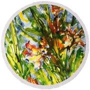 Divine Blooms-21061 Round Beach Towel