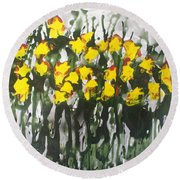 Divine Blooms-21085 Round Beach Towel