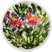 Divine Blooms-21166 Round Beach Towel