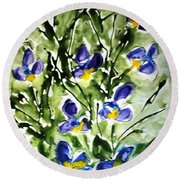 Divine Blooms-21169 Round Beach Towel