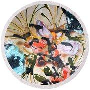 Divine Blooms-21171 Round Beach Towel
