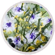 Divine Blooms-21172 Round Beach Towel