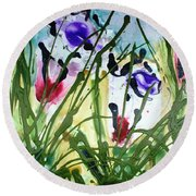 Divine Blooms-21174 Round Beach Towel