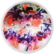 Divine Blooms-21175 Round Beach Towel