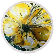 Divine Blooms-21179 Round Beach Towel