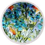 Divine Blooms-21180 Round Beach Towel