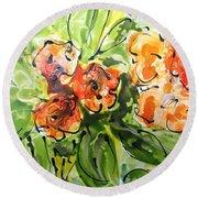 Divine Blooms-21192 Round Beach Towel