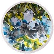Divine Blooms-21195 Round Beach Towel