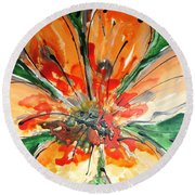 Divine Blooms-21198 Round Beach Towel