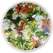 Divine Blooms-21203 Round Beach Towel