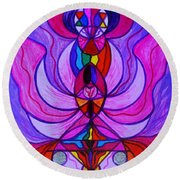 Divine Feminine Activation Round Beach Towel