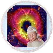 Divine Heart/bigstock - 92883674 Baby Round Beach Towel