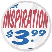 Divine Inspiration Supermarket Series Round Beach Towel
