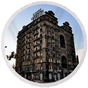 Divine Lorraine Hotel Round Beach Towel by Bill Cannon