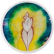 Divine Love Series No. 2079 Round Beach Towel