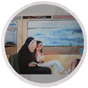 Divine Secrets Round Beach Towel