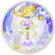 Divine Union Round Beach Towel