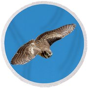 Diving For Home Round Beach Towel