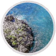 Diving In Italy Round Beach Towel