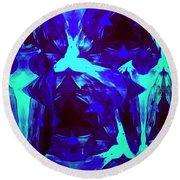 Division Of Light Round Beach Towel