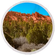 Dixie National Forest Round Beach Towel