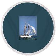 dk tall ships fiddlers green gaff schooner lyr 1973 D K Spinaker Round Beach Towel