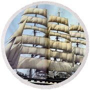 dk tall ships kruzenshtern barque lyr 1926 full D K Spinaker Round Beach Towel