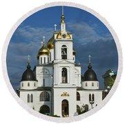 Dmitrov. Assumption Cathedral. Round Beach Towel