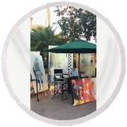 Dmrt Art Show Round Beach Towel
