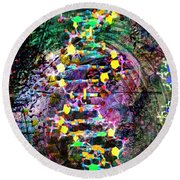 Dna Dreaming 7 Round Beach Towel
