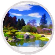 Do-00010 Turtle Island Waterview Round Beach Towel