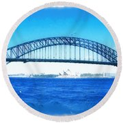 Do-00057 Harbour Bridge Round Beach Towel