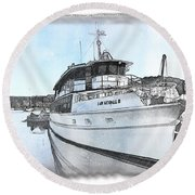 Do-00233 Lady Kendall Round Beach Towel