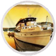 Do-00234 Lady Kendall In Sunset Round Beach Towel