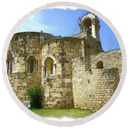 Do-00344 Church Of St John Marcus In Byblos Round Beach Towel