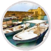 Do-00350 Byblos Port Round Beach Towel